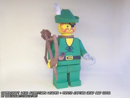 papercraft battle-scarred LEGO Forestmen minifig by ninjatoespapercraft