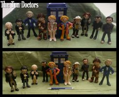 Clay Ten Doctors by vandonovan