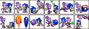Sonic and Blaze Sprites by LibbyKeppen