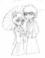 IchiRuki Spring 2 -sketch- by XSpiritWarriorX
