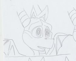 very old spyro pencil test by purstotahti