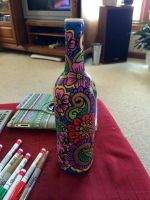 Hand Painted Bottle #2 by PsychedelicQueen
