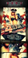 4th Of July Independence Day Flyer Template by yAniv-k