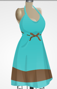 Brown bow dress by mgcat989