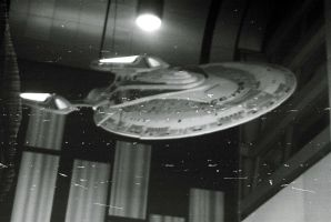 The U.S.S. Enterprise In Black And White by Neville6000