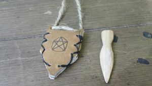 Oak Faerie Athame with Pentacle Sheath by Troll-Blood
