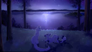 Moonlit Outing |Commission| by splashamantha