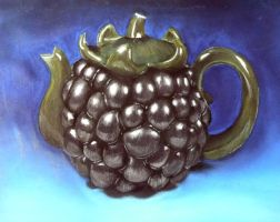 Blackberry Tea Pot by LouSasa