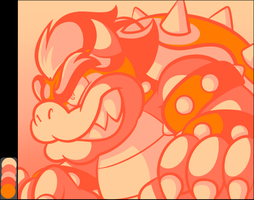 Tumblr Color Meme - Palette #33 - Bowser by JamesmanTheRegenold