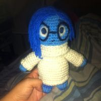 Sadness insipired amigurumi by UrCrochetGal