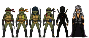 Teenage Mutant Ninja Turtles MK2 by Melciah1791