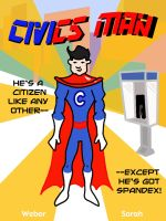 Civics Man Comic Book Cover by Bubb-Lee