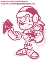 Commission - Hammer Sonic Sketch by JamesmanTheRegenold