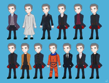 Doctor Who - All Twelfth's Costumes in Series 8 by mrsvaleyard