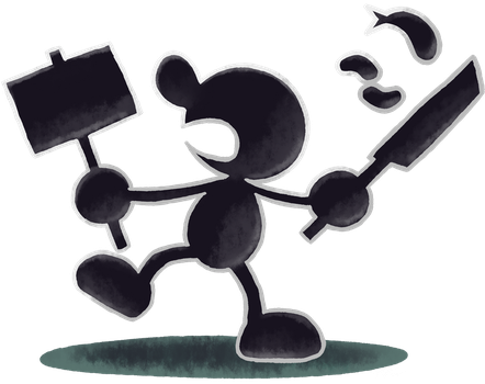 ''Mario+Luigi'' RPG Style: Mr. Game and Watch by Master-Rainbow
