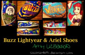Buzz Lightyear and Ariel Shoes by soccercat4685