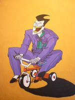 The Joker having fun by Sabal33