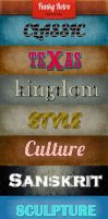 9 Funky Retro - Text Styles by ortupaz182