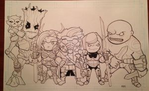 Guardian's of the Galaxy Lil Dudes w.i.p by MARR-PHEOS