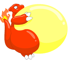 inflated Charmeleon by GrineX