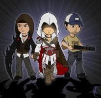 Alex, Ezio and Ellis by Know-Kname