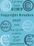 GIMP Copyright Brushes by savvy-stock