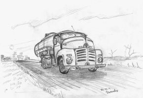 fuel tanker by Ulyanovetz