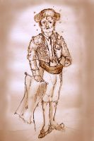 Sepia Alphonso Spagoni the Toreador by mr-macd