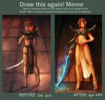 Meme  Before And After (almalexia) by VentralHound