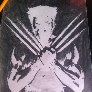 Wolverine inverted drawing by ChaseSuissa12