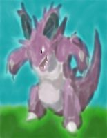 Nidoking with bg by daylover1313