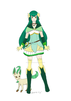 Pocket Monsters Precure: Cure Willow by Blue-and-Dog