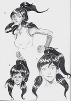 LOK - Korra Sketches by borearisu