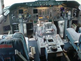 747-300 cockpit by kaasjager