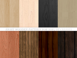 8 wooden patterns by celestesd