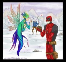 Deadpool meets the Tooth Fairy by Davidelle