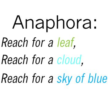 essays on anaphora The american scholar by ralph waldo emerson by feross aboukhadijeh, 12th grade literary devices like metaphor, simile, and repetition are used in literature to convey a special meaning to the reader.