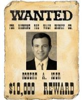 Robert Iger Wanted Poster by AnimeJason2010