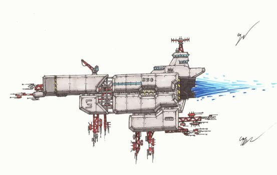 Some F*ckin Spaceship Thing 2 by Leviathan-Corp