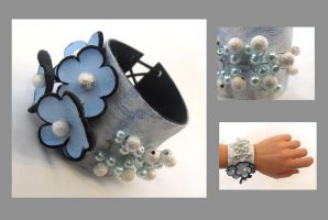 Leather bracelet. Corsage_3 by julishland