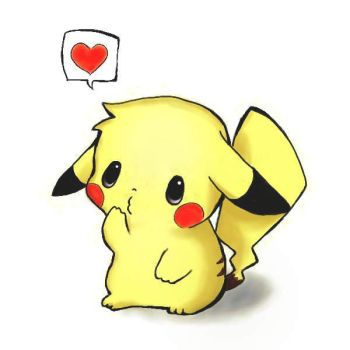 Pikachu is in love by anitamandic