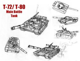 T-72 and T-80 Sketchies by Sanity-X