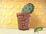 The Cactus and the Beetle by Calisaroa