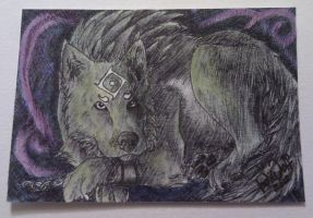 ACEO - Wolf Link by IndiWolfOnline