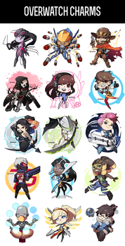 Overwatch Charms - Anime Expo I50 by Dragons-Roar