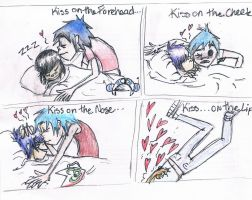 2D and Noodle kiss meme by lunatoon98