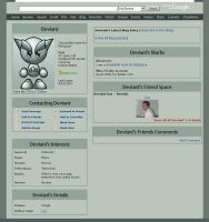 DeviantArt CSS for MySpace by woktiny