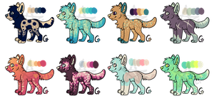 Cheap Canine Adopt Batch [OPEN] 50-POINTS EACH by rottenstarboy