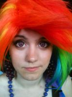 Rainbow Dash Makeup by SandSibilings