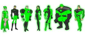 Seven Green Lanterns by ASH1977LAW